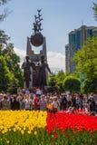 ΑΛΜΆΤΙ, ΚΑΖΑΚΣΤΑΝ - 9 ΜΑΐΟΥ: Νίκη εορτασμού ημέρας νίκης μέσα Στοκ εικόνα με δικαίωμα ελεύθερης χρήσης