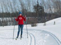 ΑΛΜΆΤΙ, ΚΑΖΑΚΣΤΑΝ - 18 ΦΕΒΡΟΥΑΡΊΟΥ 2017: ερασιτεχνικοί ανταγωνισμοί στην πειθαρχία ανώμαλο να κάνει σκι, με το όνομα Στοκ Φωτογραφία