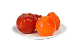 αλμυρές ντομάτες Στοκ Εικόνες