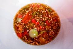 Αλμυρός καυτός πιπεριών τσίλι σάλτσας στοκ εικόνες