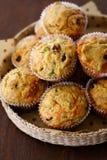 Αλμυρό muffin των βακκίνιων τυριών Στοκ φωτογραφία με δικαίωμα ελεύθερης χρήσης