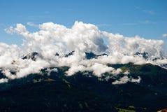αλπικά βουνά στοκ φωτογραφία