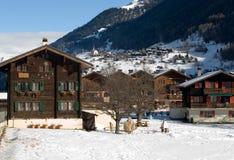 αλπική σκηνή Ελβετία στοκ εικόνα