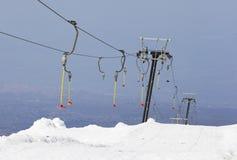 Αλπικός ανελκυστήρας Etna στο χιονοδρομικό κέντρο Ιταλία Σικελία Στοκ φωτογραφία με δικαίωμα ελεύθερης χρήσης