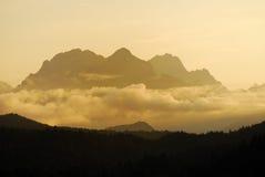 αλπικό ηλιοβασίλεμα Στοκ εικόνες με δικαίωμα ελεύθερης χρήσης