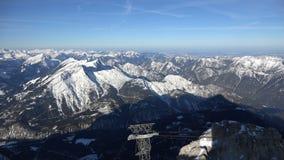 Αλπικό πανόραμα από το Zugspitze απόθεμα βίντεο
