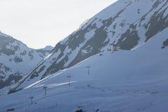 Αλπικό χιονοδρομικό κέντρο Serfaus Fiss Ladis στην Αυστρία Στοκ Φωτογραφία