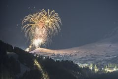 Αλπικό χιονοδρομικό κέντρο Serfaus Fiss Ladis στην Αυστρία Στοκ Φωτογραφίες