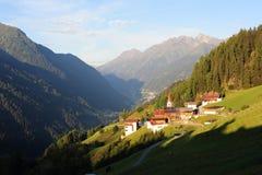 αλπικό χωριό στοκ φωτογραφία
