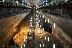 Αλυκή Turda, Τρανσυλβανία, Ρουμανία αλατισμένων ορυχείων στοκ φωτογραφίες με δικαίωμα ελεύθερης χρήσης