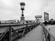 αλυσίδα Ουγγαρία της Βουδαπέστης γεφυρών Στοκ εικόνα με δικαίωμα ελεύθερης χρήσης