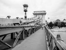 αλυσίδα Ουγγαρία της Βουδαπέστης γεφυρών Στοκ φωτογραφίες με δικαίωμα ελεύθερης χρήσης