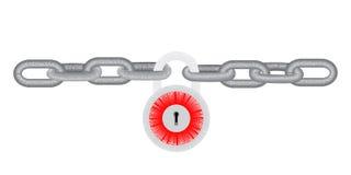 αλυσίδα που κλειδώνετ&alp Διανυσματική απεικόνιση