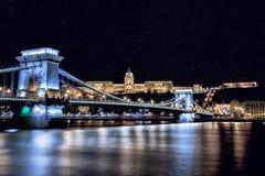 αλυσίδα της Βουδαπέστης γεφυρών Στοκ εικόνα με δικαίωμα ελεύθερης χρήσης