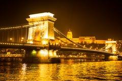 αλυσίδα της Βουδαπέστης γεφυρών Στοκ Εικόνα