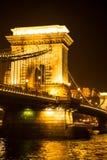 αλυσίδα της Βουδαπέστης γεφυρών Στοκ Φωτογραφίες