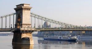 αλυσίδα της Βουδαπέστη&sig Στοκ φωτογραφία με δικαίωμα ελεύθερης χρήσης