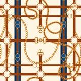 Αλυσίδες και ζώνες άνευ ραφής διάνυσμα προτύπων απεικόνιση αποθεμάτων