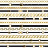 Αλυσίδες και ζώνες στο λευκό διανυσματική απεικόνιση