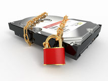 αλυσοδέστε το σκληρό κλείδωμα hdd μονάδας δίσκου που προστατεύεται απεικόνιση αποθεμάτων