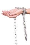 Αλυσοδεμένα χέρια στοκ εικόνες με δικαίωμα ελεύθερης χρήσης