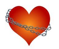 Αλυσοδεμένη διάνυσμα καρδιά Στοκ Εικόνα