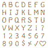 Αλφάβητα φασολιών ζελατίνας απεικόνιση αποθεμάτων