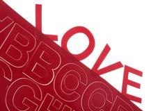 Αλφάβητο αγάπης Στοκ Εικόνες