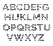 Αλφάβητο από τις επιστολές της πέτρας Οι επιστολές αποτελούνται από τις διακοσμητικές πέτρες Στοκ Εικόνες