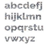 Αλφάβητο από τις επιστολές της πέτρας Οι επιστολές αποτελούνται από τις διακοσμητικές πέτρες Στοκ Φωτογραφία