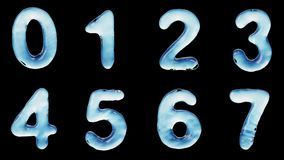 Αλφάβητο από το νερό που απομονώνεται σε ένα μαύρο υπόβαθρο απόθεμα βίντεο