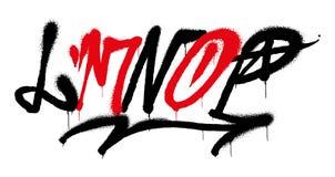 Αλφάβητο γκράφιτι διανυσματική απεικόνιση
