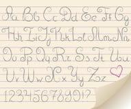 αλφάβητο γκρίζο Στοκ Εικόνες