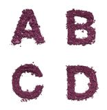 Αλφάβητο διάτρητων από το καλλυντικό Στοκ Φωτογραφίες