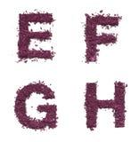 Αλφάβητο διάτρητων από το καλλυντικό Στοκ Φωτογραφία