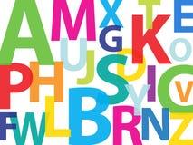 αλφάβητο ζωηρόχρωμο Στοκ φωτογραφίες με δικαίωμα ελεύθερης χρήσης
