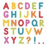 αλφάβητο ζωηρόχρωμο Στοκ Φωτογραφία