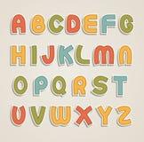 Αλφάβητο κινούμενων σχεδίων Στοκ φωτογραφίες με δικαίωμα ελεύθερης χρήσης