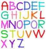 Αλφάβητο μπαλονιών Στοκ Φωτογραφίες