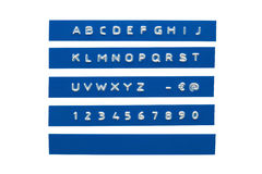 αλφάβητο που αποτυπώνετ&al στοκ φωτογραφία