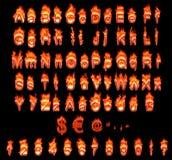 αλφάβητο που καίει τις γ&e ελεύθερη απεικόνιση δικαιώματος