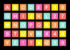 Αλφάβητο που τίθεται στο τετράγωνο Στοκ Εικόνα