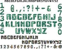 Αλφάβητο πράσινο και ζωηρόχρωμο Στοκ Εικόνες