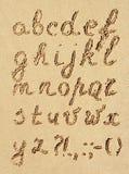 Αλφάβητο στην άμμο διανυσματική απεικόνιση