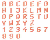 Αλφάβητο, τούβλα Στοκ Εικόνα