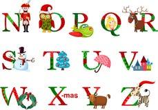 Αλφάβητο Χριστουγέννων Στοκ Εικόνες