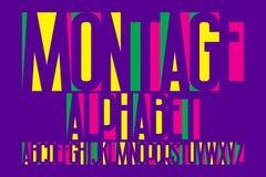 Αλφάβητο Montage Ζωηρόχρωμη πηγή επιστολών Απομονωμένο αγγλικό αλφάβητο διανυσματική απεικόνιση