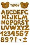 αλφάβητο teddy Στοκ φωτογραφία με δικαίωμα ελεύθερης χρήσης