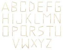 αλφάβητο toothpicks Στοκ φωτογραφία με δικαίωμα ελεύθερης χρήσης