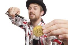 Αλχημεία Bitcoin Στοκ Εικόνα